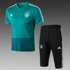 18-19 Germany Green Short-Sleeved Training Suit (2018世界杯德国绿色短袖训练服)