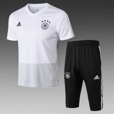 18-19 Germany White Short-Sleeved Training Suit (2018世界杯德国白色短袖训练服)