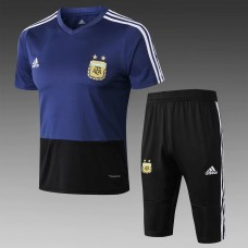 18-19 Argentina Blue Short-Sleeved Training Suit (2018世界杯阿根廷蓝色短袖训练服)