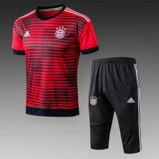 17-18 Bayern Red Short-Sleeved Training Suit (17-18拜仁红色短袖训练服)