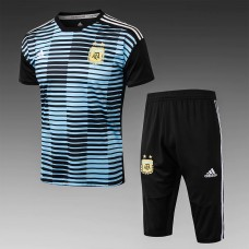2018 World Cup Argentina Blue Short-Sleeved Training Suit (2018世界杯阿根廷短袖训练服)
