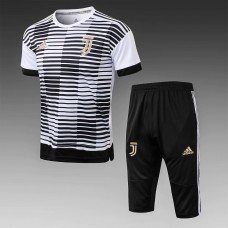 18-19 Juventus White Short-Sleeved Training Suit (18-19尤文黑色短袖训练服)