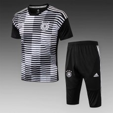 2018 World Cup Germany Black Short-Sleeved Training Suit (2018世界杯德国黑色短袖训练服)