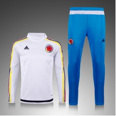 Colombia White and Blue Training Suit