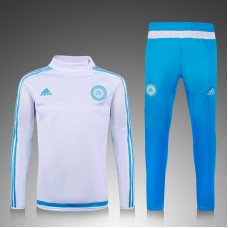 Marseille White and Blue Training Suit