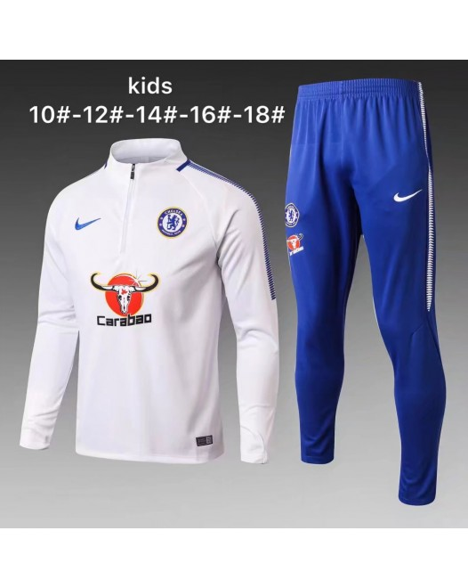 17-18 Chelsea White kid training suit (17-18切尔西白色童装训练服)