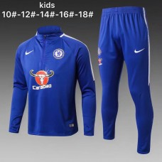 17-18 Chelsea Blue kid training suit (17-18切尔西蓝色童装训练服)