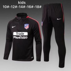 17-18 Atlético Madrid Black kid training suit (17-18马竞黑色童装训练服)