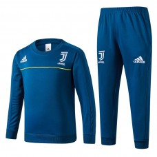 17-18 Juventus Blue round neck kid training suit (1718尤文圆领蓝色童装)