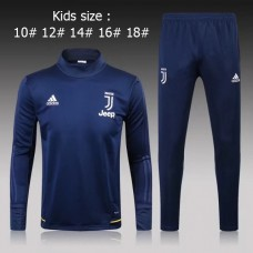 17-18 Juventus Blue kid training suit (17-18尤文蓝色童装训练服)