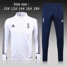 17-18 Juventus White kid training suit (17-18尤文白色童装训练服)