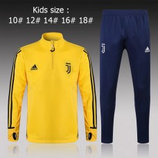17-18 Juventus Yellow kid training suit (17-18尤文黄色童装训练服)