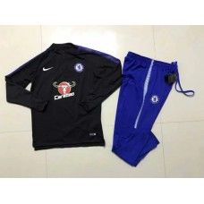 17-18 Chelsea Black kid training suit (17-18切尔西黑色童装训练服)