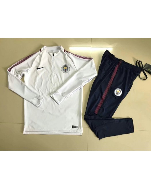17-18 Manchester City White kid training suit (17-18曼城童装训练服)