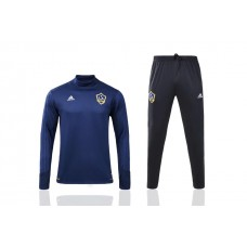 17-18 LA Galaxy Blue Training suit (17-18 银河深宝蓝高领领)