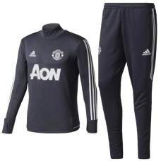 17-18 Manchester United Gray Training suit  (17-18 曼联深灰色训练服)