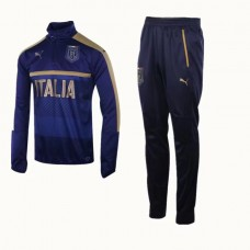 17-18 Italy Blue  training suit(17-18 意大利蓝色训练服)