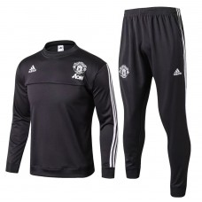 17-18 Manchester United Gray round neck Training suit (17-18 曼联深灰色圆领训练服)