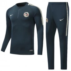17-18 Club America  cyan Training suit (17-18美洲青色训练服)