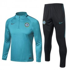 17-18 Chelsea round neck Green Training suit (17-18 切尔西圆领绿色训练服)
