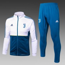 17-18 Juventus high neck White and Blue Training suit (17-18 尤文白/蓝色训练服)