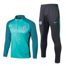 17-18 Chelsea round neck Green Player Version Training suit (17-18 切尔西绿色球员训练服)