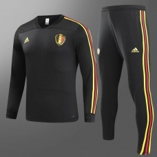 2018 World Cup Belgium Black Training suit (2018世界杯比利时黑色训练服)