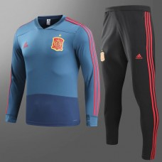 2018 World Cup Spain Blue Training suit (2018世界杯西班牙蓝色训练服)