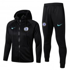 17-18 Chelsea Black zipper hoodie Training suit (17-18切尔西黑色拉链帽衫训练服)