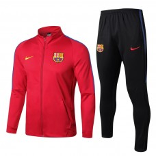 17-18 Barcelona High Neck Red Training suit (17-18巴萨高领红色训练服)