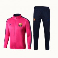 17-18 Barcelona High Neck Pink Training suit (17-18巴萨高领粉红训练服)