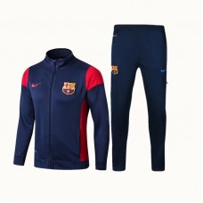 17-18 Barcelona Deep Blue Training suit (17-18巴萨深蓝色拉链训练服)