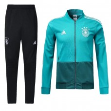 2018 World Cup Germany Green Zipper Training suit (2018世界杯德国绿色拉链训练服)