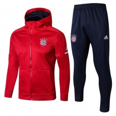 17-18 Bayern Red Hoodies Training suit (17-18拜仁红色帽衫训练服)