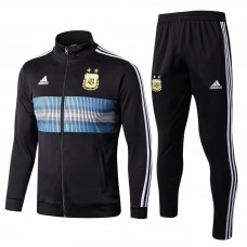 2018 World Cup Argentina Black Zipper Training suit (2018世界杯阿根廷黑色高领拉链训练服)
