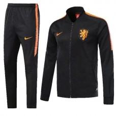 2018 World Cup Netherlands Black Zipper Training suit (2018世界杯荷兰黑色高领训练服)