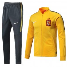 18-19 Evergrande Yellow Zipper Training Suit (18-19恒大黄色拉链套装)