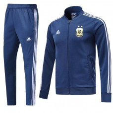 2018 World Cup Argentina Blue Zipper Training suit (2018世界杯阿根廷蓝色拉链套装)