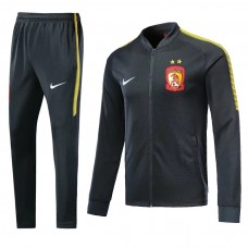 2018 World Cup Evergrande Black Training suit (2018世界杯恒大黑色拉链套装)