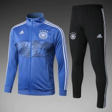 2018 World Cup Germany Blue Zipper Training suit (2018世界杯德国蓝色拉链套装)