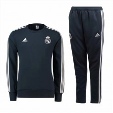 18-19 Real Madrid Round Neck Training suit (18-19皇马深灰色圆领训练服)