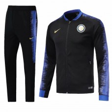 18-19 Inter Milan Black Zipper Training suit (18-19国米黑色拉链训练服)