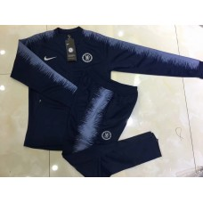 18-19 Chelsea Navy Blue Zipper Training suit (18-19切尔西深蓝色拉链训练服)