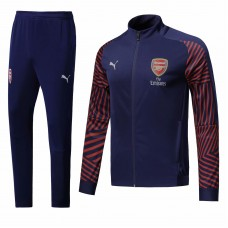 18-19 Arsenal Blue Zipper Fans Verison Training suit (18-19阿森纳蓝色拉链训练服)