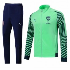 18-19 Arsenal Green Zipper Training suit (18-19阿森纳绿色拉链训练服)
