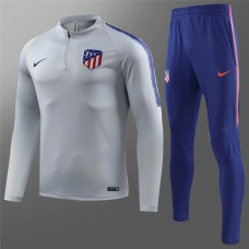 18-19 Atlético Madrid Gray white Training Suit (18-19马竞灰白色(窄边)训练服)