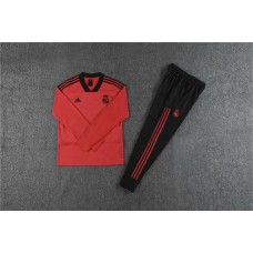 18-19 Real Madrid Red V-Neck Training Suit (18-19皇马红色(v领)训练服)