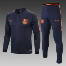 18-19 Barcelona Blue Zipper Training Suit (18-19巴萨宝蓝(宽边)拉链训练服)