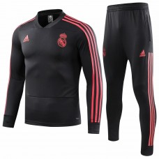 18-19 Real Madrid Black V-Neck Training Suit (18-19皇马欧冠黑色v领训练服)