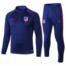 18-19 Atlético Madrid Blue Training Suit (18-19马竞蓝色半拉训练服)